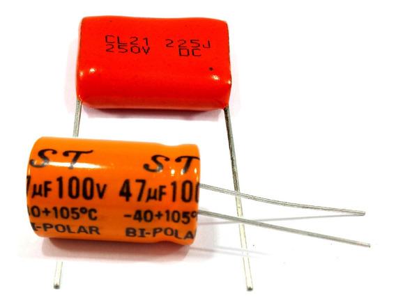 10 Capacitor Corneta 47x100 + 10 Cap. Super Tweeter 2m2x250