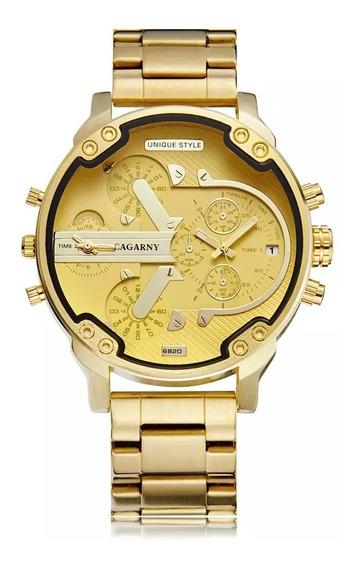 Relógio Cagarny Dourado 6820 Alta Qualidade E Várias Cores