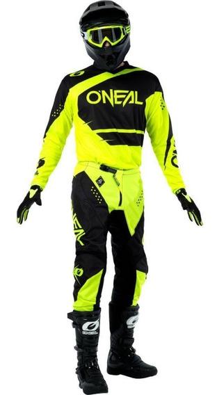 Kit Jersey Y Pantalón Oneal Element Racewear Neon Negro