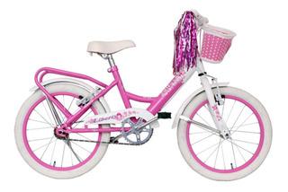 Bicicleta Infantil Rodado 16 Para Nena Sasha Paseo Canasto