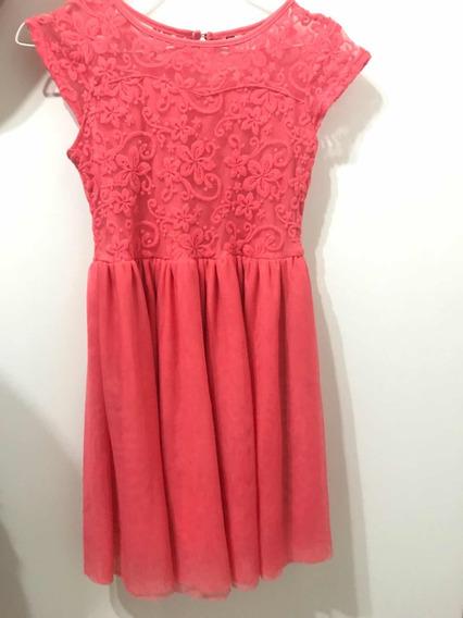 Vestido Muaa Color Coral