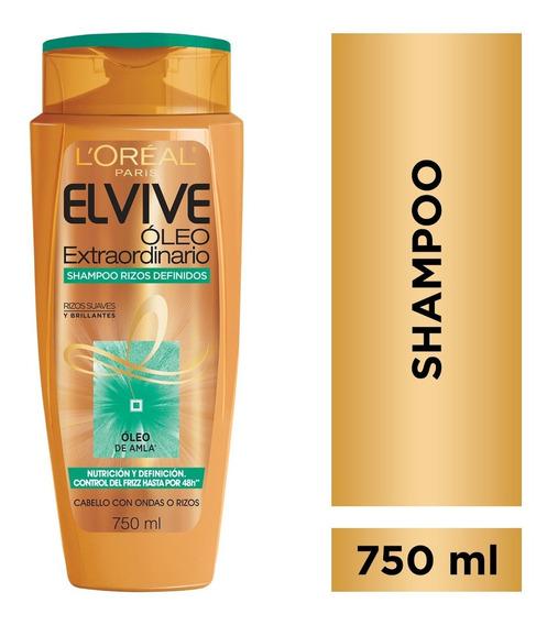 Shampoo Oleo Extraordinario Rizos X750 Elvive Loreal Paris