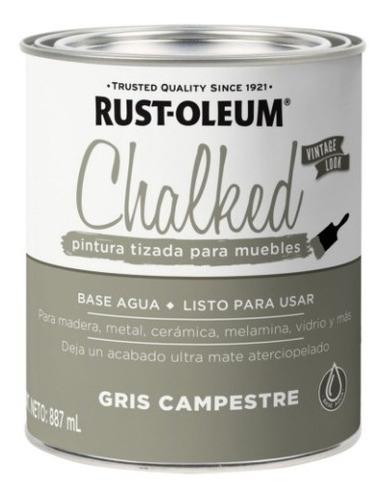Pintura Tizado Chalked Rust Oleum 887ml Gris Campestre   Ed