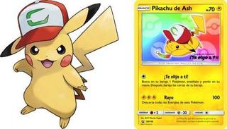 Pokemon: Pikachu De Ash Trading Card Pelicula 2017 Original