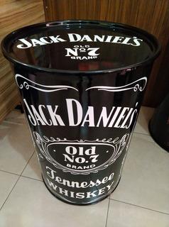 Tonel Barril Tambor Decorativo Personalizado Jack Daniels