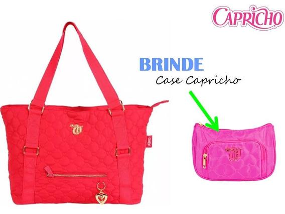 Bolsa Tote Capricho Love Vii Red Original Dmw + Brinde B