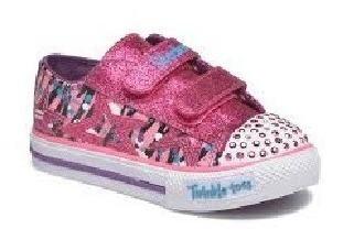 Tênis Feminino Infantil Skechers Glitter N Glitz C/ Luz Led