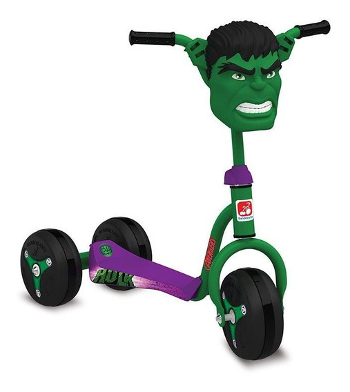 Patinete Hulk Clássico - Bandeirante