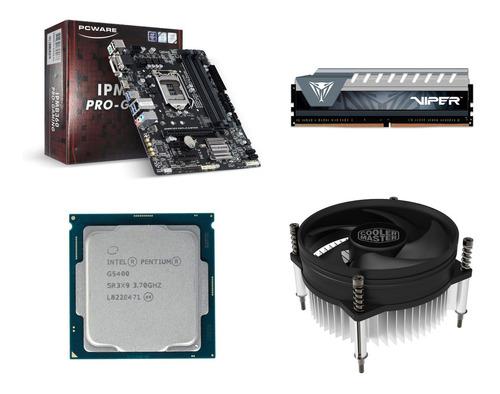 Kit Pentium G5400 Oem + Pcware B360 + Memoria 8gb + Cooler