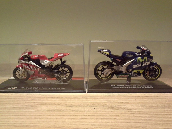 Miniatura Motogp Marco Melandri Yamaha 2004 E Honda 2005