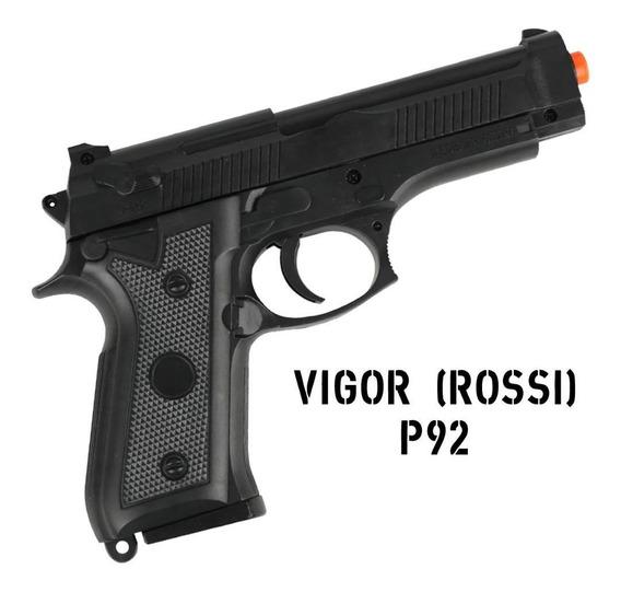Pistola Rossi Airsoft Spring Vigor P92 Mais Barata Do Brasil
