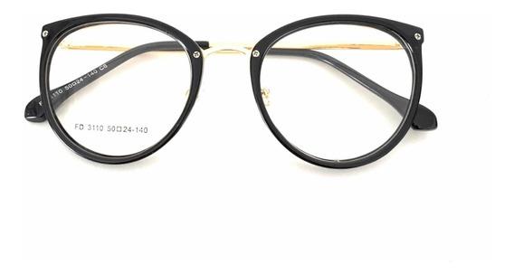Óculos Feminino Armação P/ Grau Redonda Quadrada Vintage Dio