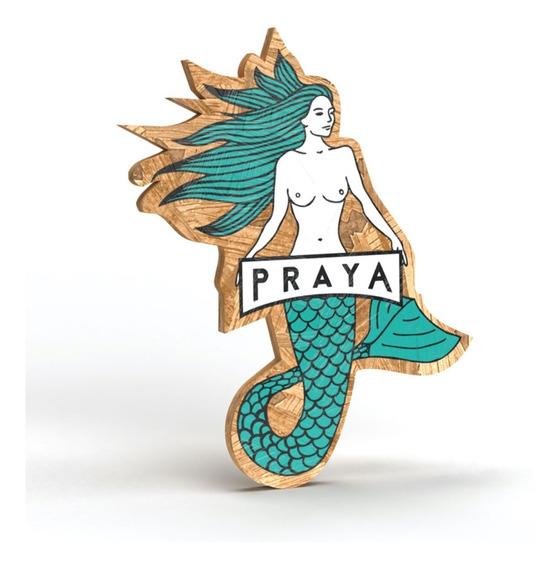 Placa Sereya Praya 30cm Em Madeira Osb