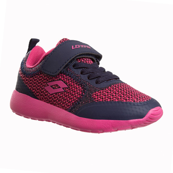 Tenis Rigar Lotto Fucsia/gris Children