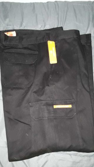 Pantalón Cargo Marca Ombú Cargo Talle 58 Color Negro Nuevo