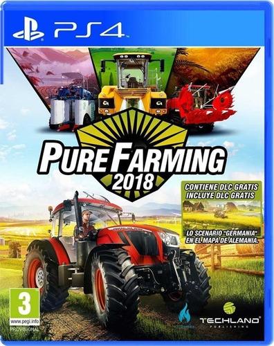 Ps4 Pure Farming 2018 / Fisico
