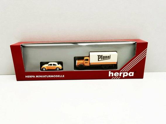 Set Fusca Caminhão Mercedes Herpa 1:87 Ho