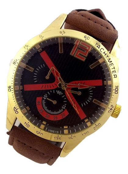 Relógio Masculino Analógico Pulseira Couro Sintético B5681