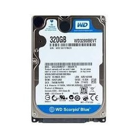 Hd Wd 320gb P\notebook 100%