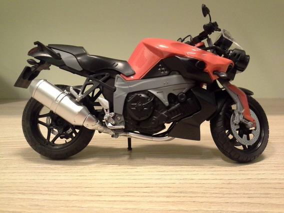 Miniatura Moto Bmw K1300r Cor Laranja, Escala 1:12