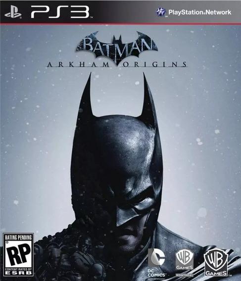 Batman Arkham Origins Ps3 Digital 12 Gb Jogue Hoje