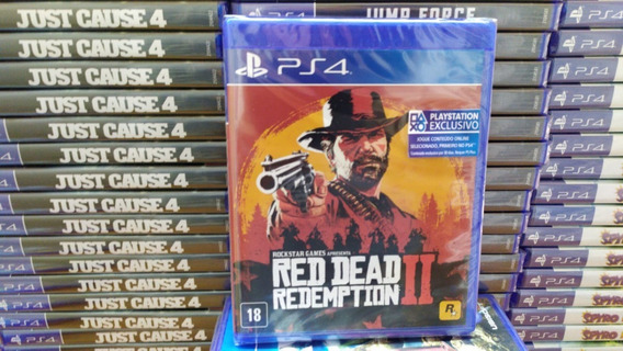 Red Dead Redemption 2 Ps4 Mídia Física Original Lacrado Novo