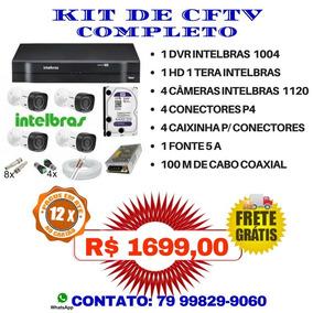 Kit Segurança Dvr 4 Canais Mhdx 4 Câmeras 1120 Intelbras