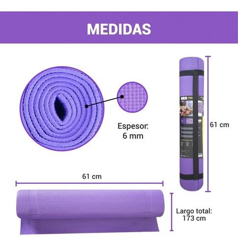 Imagen 1 de 9 de Colchoneta Yoga Mat Gimnasio Pilates Estampada 6mm Drb®