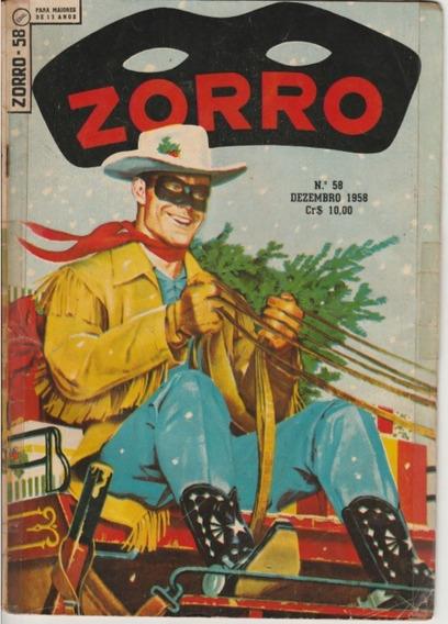 Zorro N.°58 Dezembro 1958 Ebal Jm.gibis-raros