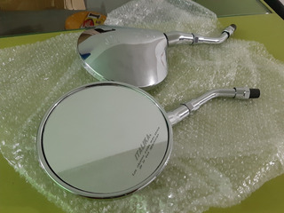 Espejos Retrovisores Cromados Metal Italika Vitalia 125, 150