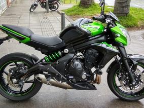 Espectacular Moto Kawasaki Naked Er6n 2016 Como Nueva!