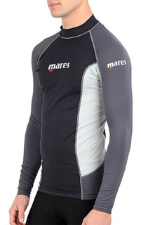 Playera Mares Lycra Manga Larga Protección Solar Buceo M