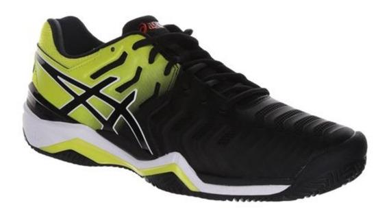 Tênis Para Jogar Tênis Asics Gel Resolution 7 Clay Amar/pret