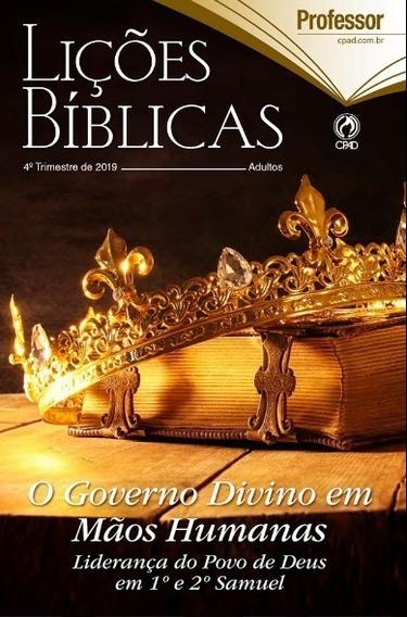Licoes Biblicas 40 Aluno E 5 Professor 4º Trimestre Cpad