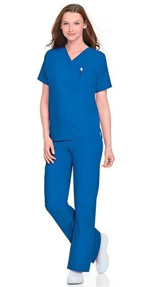 Pantalón Económico Unisex Marca Scrubzone Color Azul Real