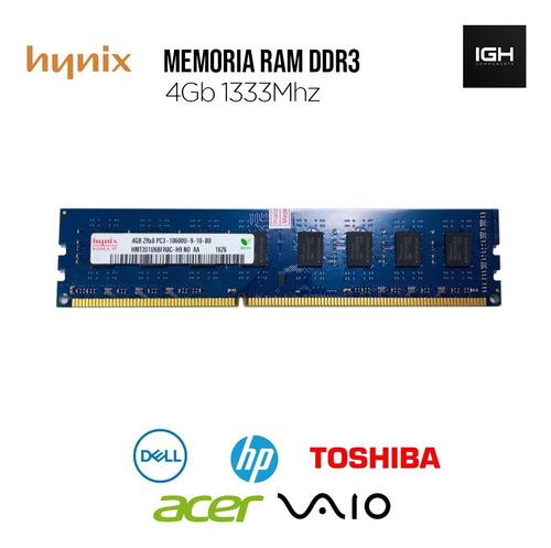 Memoria Ddr3 4gb Pc3-10600 2rx8 1333mhz Hynix Pc