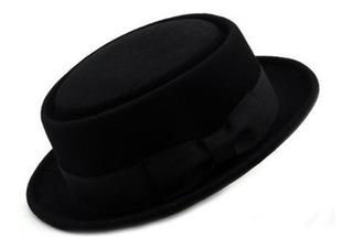 Sombrero De Porkpie De Fieltro De Lana Triturable Para Hombr