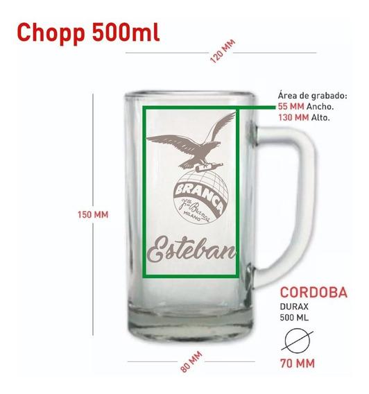 Vasos Vidrio Chopp 500ml Cerveza Personalizado Grabado X12u