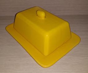 Manteigueira Amarela Em Ceramica Consulte Outras Cores