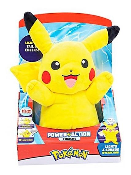Pokémon Pelúcia Pikachu Power Action Luz E Som Dtc Oferta