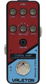 Pedal Valeton Crl-5 Coral Amp Crl5 Preamp Amp Modeling