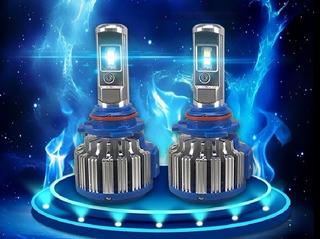 2 Focos Led En Modelo Turbo-led H4, 9007, H7, 9006, H11