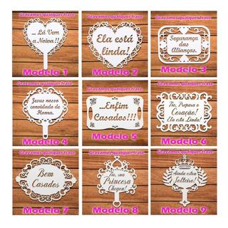 Kit 2 Placas Casamento Mdf - Lá Vem A Noiva- Personalizada
