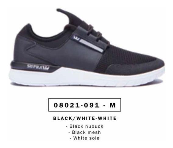 Zapatillas Supra Flow Black/black/white Originales