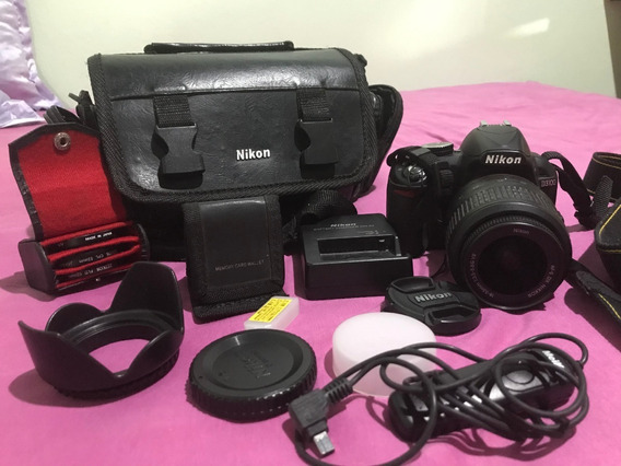 Câmera Nikon D3100 Com Acessórios, Lentes E Bolsa