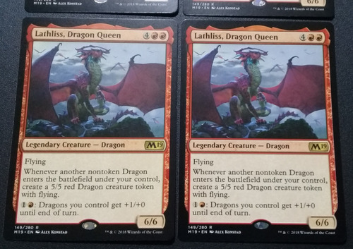 Carta Magic Mtg - Lathliss, Reina Dragón X2