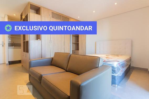 Studio No 16º Andar Mobiliado Com 1 Dormitório E 1 Garagem - Id: 892970090 - 270090