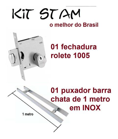 Kit Pivotante Jogo (2 Fech Rolete E 2 Puxador 1m E 2 Dobra