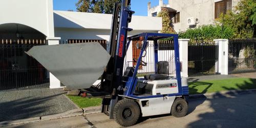 Autoelevador Komatsu 1,5 Tns. Con Pala Y Uñas (doble Uso)