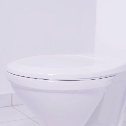 Tampa De Vaso Sanitário Em Polipropileno Tupan Universal Compatível Com Todo Assento Oval Premium Cor Branco